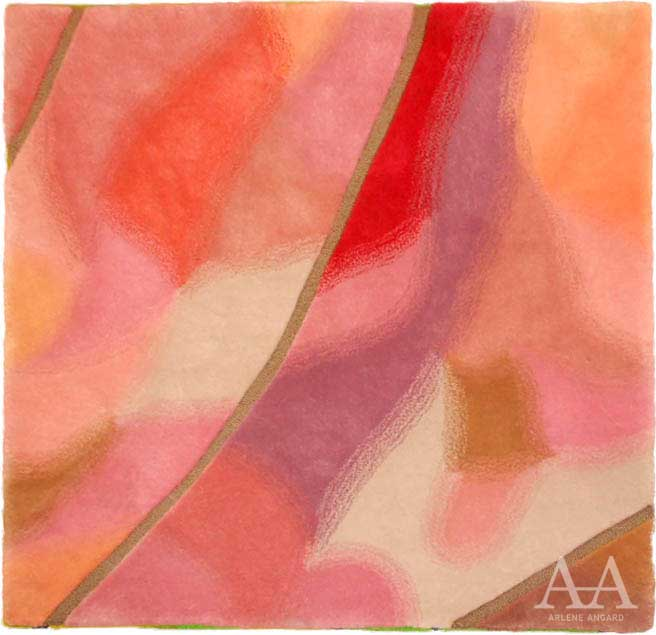 "Arlene Angard Collections, Stark Area Rugs ""Sunset in Bermuda"" "" air II"""