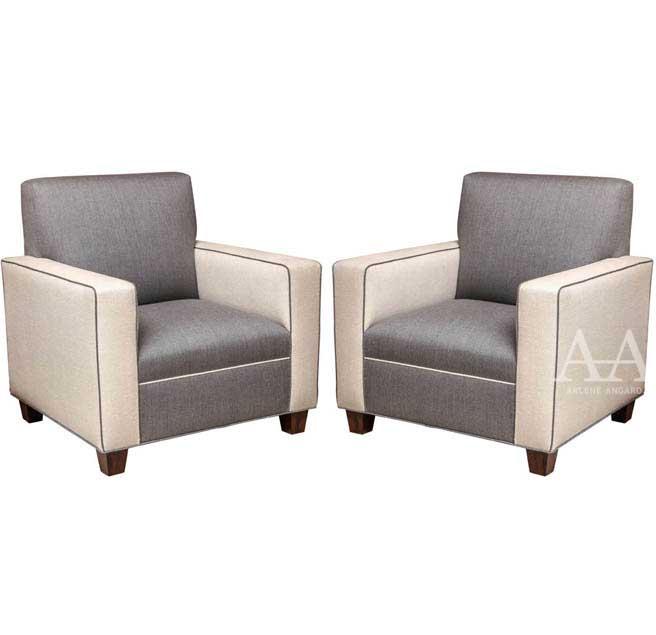 Pair of Mid-Century Modern Chairs by Arlene Angard