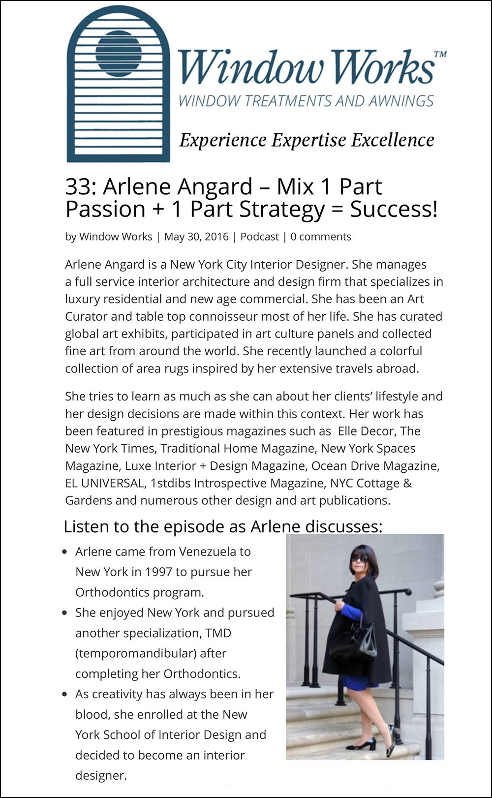 33: Arlene Angard – Mix 1 Part Passion + 1 Part Strategy = Suc