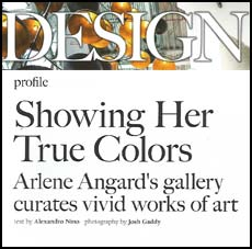 DESIGN Magazine and Arlene Angard Designs & Fine Art, Fall 2018